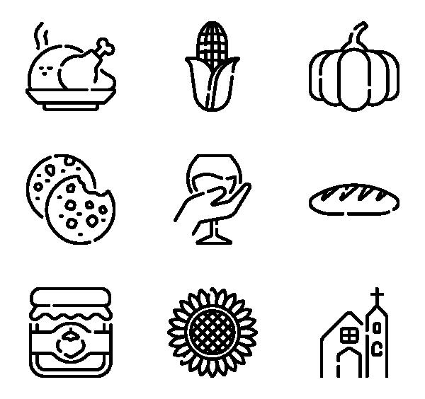 感恩节图标