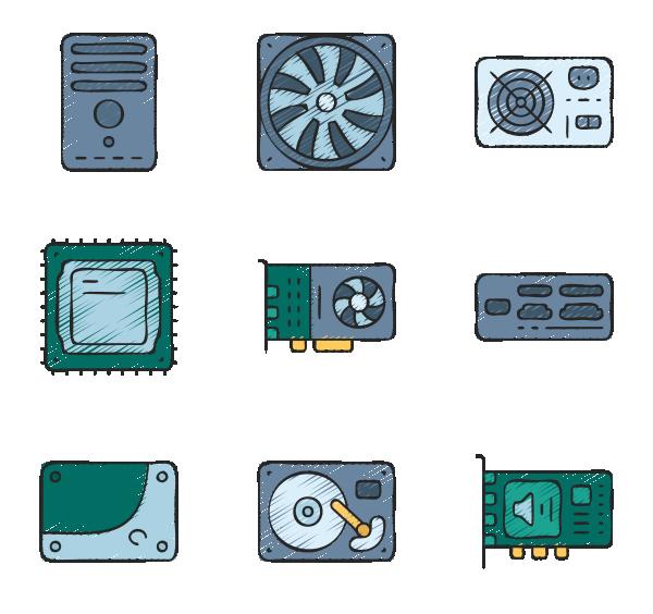 计算机硬件图标
