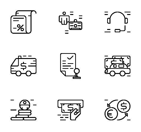商业金融图标