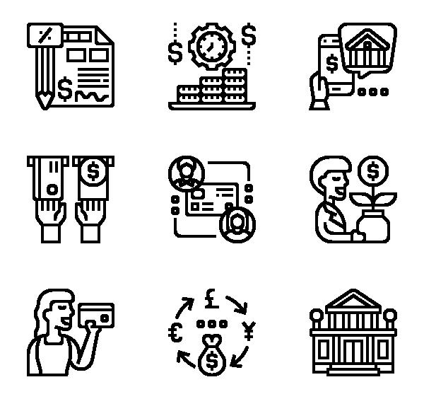 银行交易图标