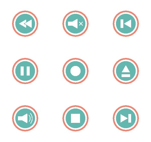 播放器UI图标