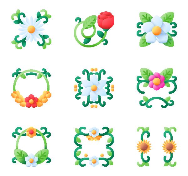 花卉设计图标