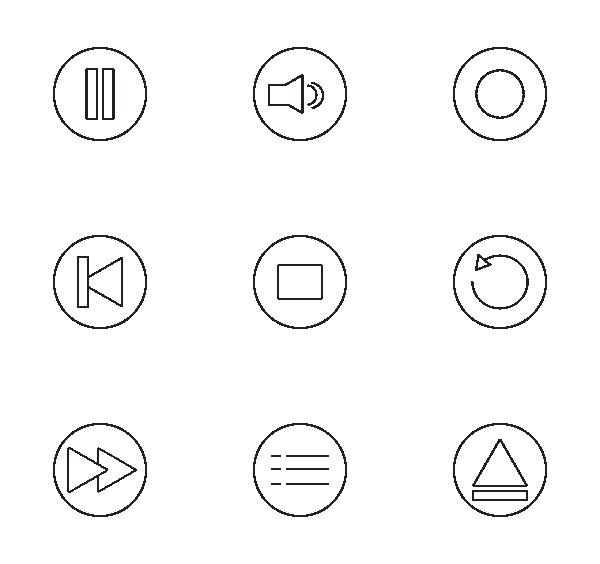 音乐播放器UI图标