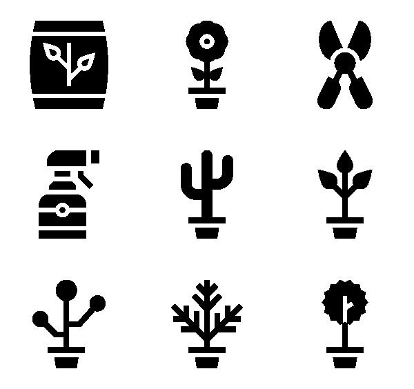 室内植物图标
