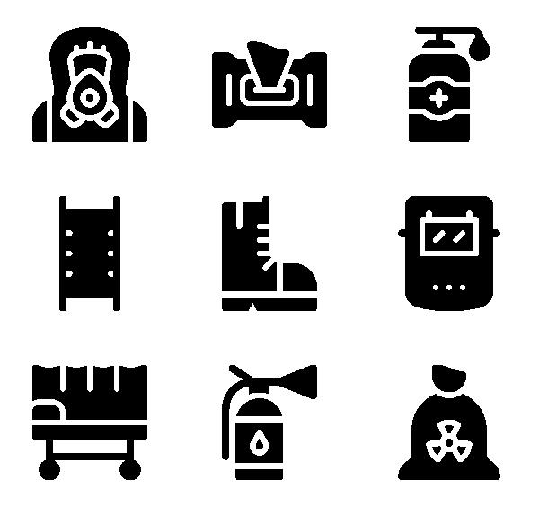 个人防护装备PPE图标