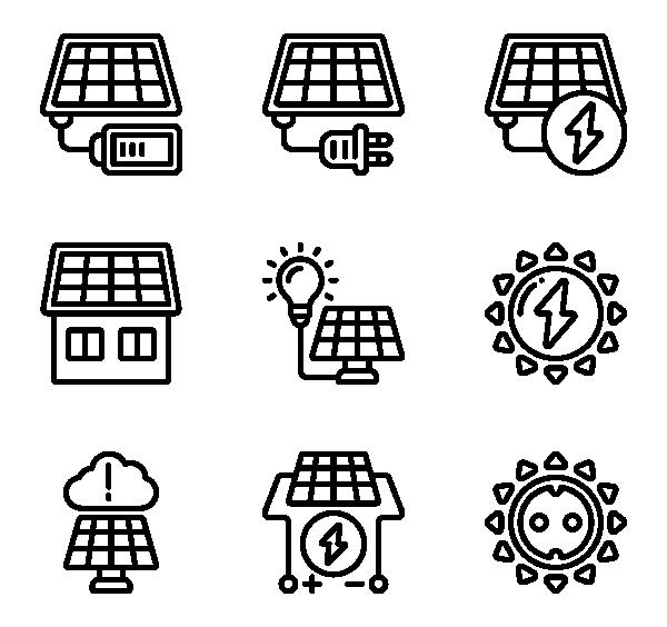 太阳能技术图标