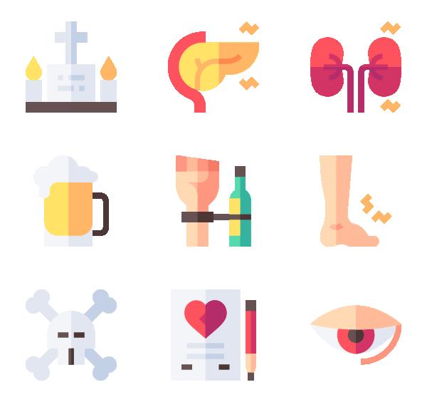 酒精中毒图标