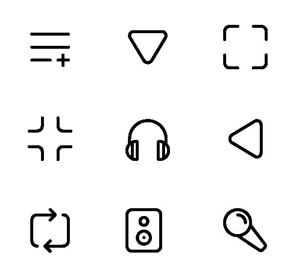 音乐和媒体播放器图标