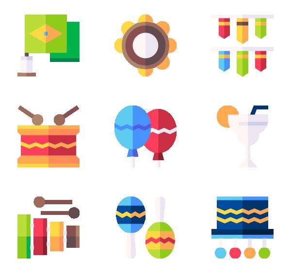 巴西狂欢节图标