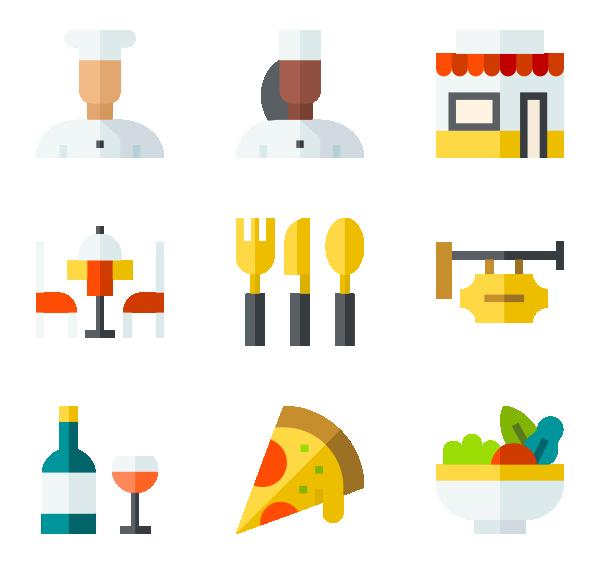食品与餐馆图标
