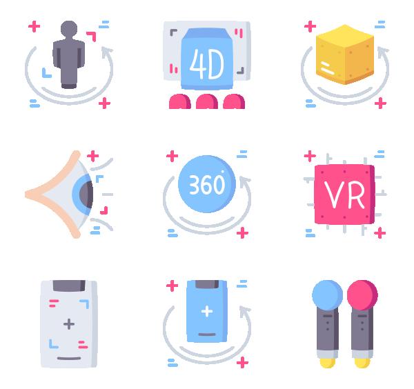 虚拟和增强现实图标