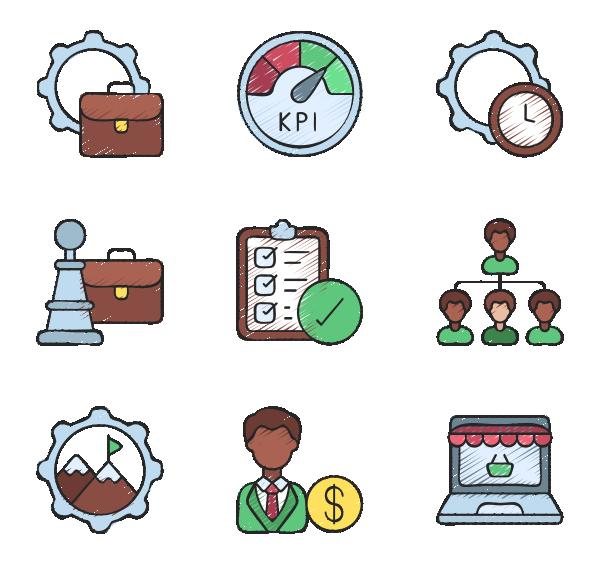 企业管理图标