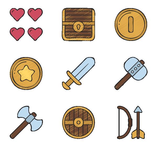 视频游戏元素图标