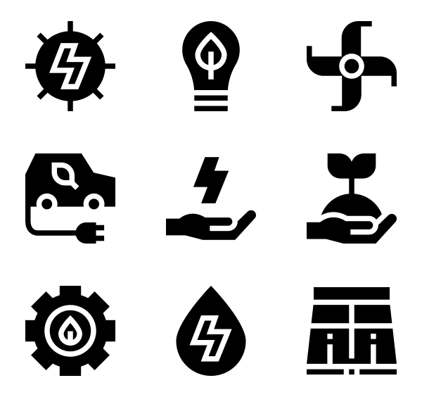 可持续能源图标