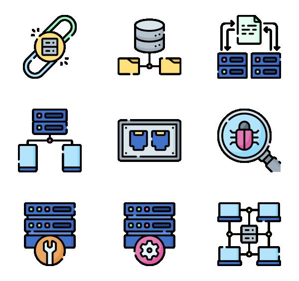 数据库与服务器图标