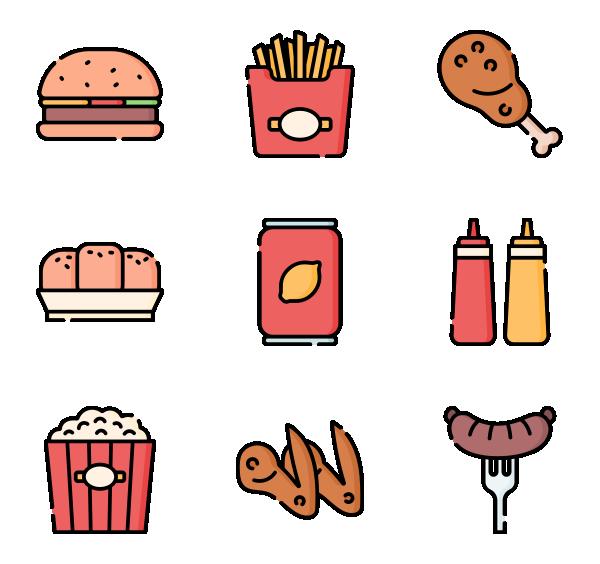 美国的食品图标