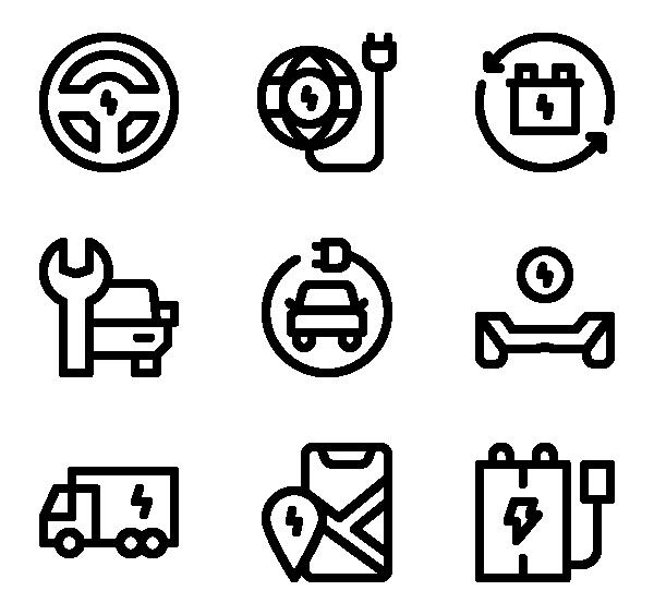 电动运输图标