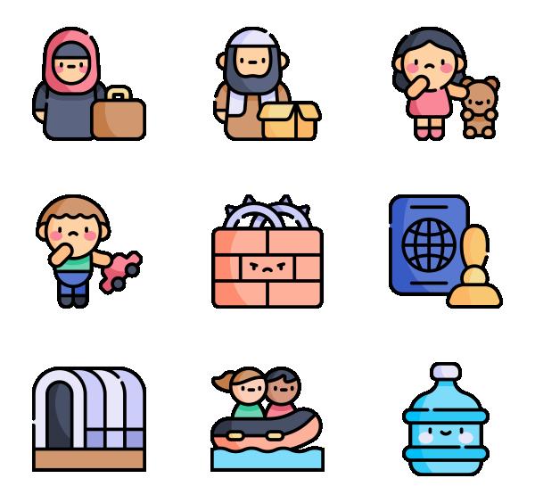 世界难民日图标