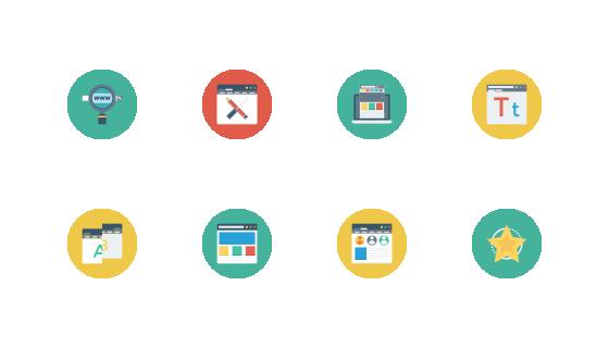 网页设计开发与UL平面圆