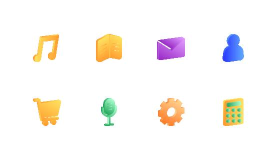 2.5D应用图标(扁平)